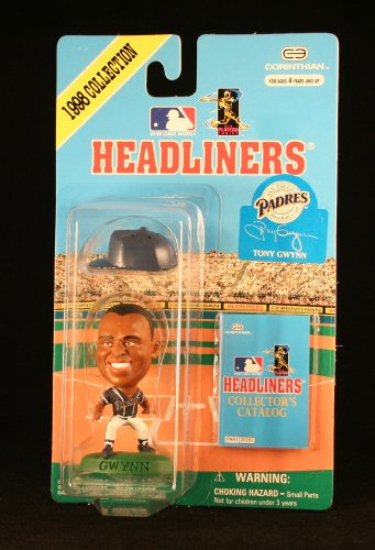 TONY GWYNN / SAN DIEGO PADRES (2nd Pose) * 3 INCH * 1998 MLB Headliners Baseball Collector Figure - 1