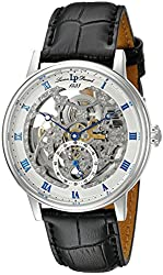 Lucien Piccard Men's LP-40013A-02S Stainless Steel Automatic Watch with Black Leather Band