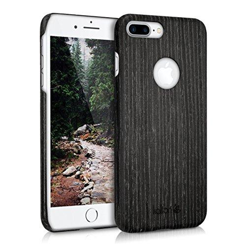 kalibri-Holz-Case-Hlle-fr-Apple-iPhone-7-Plus-Handy-Cover-Schutzhlle-aus-Echt-Holz-und-Kunststoff-aus-Gingkoholz-in-Anthrazit