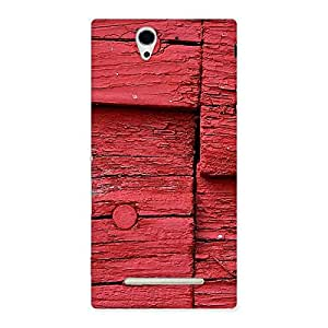Special Red Kil Wood Back Case Cover for Sony Xperia C3