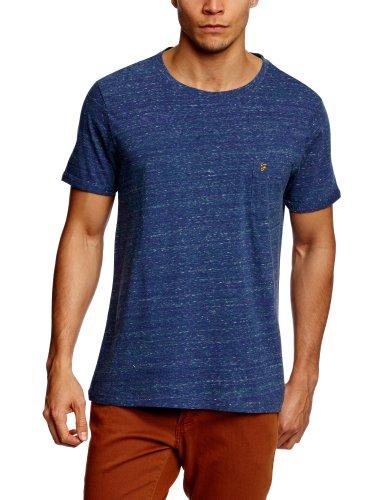 Farah Vintage The Merritt Patterned Men's T-Shirt Dark Indigo Medium