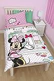Disney Minnie Mouse Cafe Single Panel Duvet Set, Multi-Colour