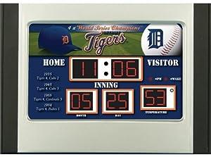 Detroit Tigers Scoreboard Desk & Alarm Clock by Hall of Fame Memorabilia