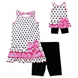 "Dollie Me Polka Dot Outfit Leggings Tunic Matching 18"" Doll Outfit 7"