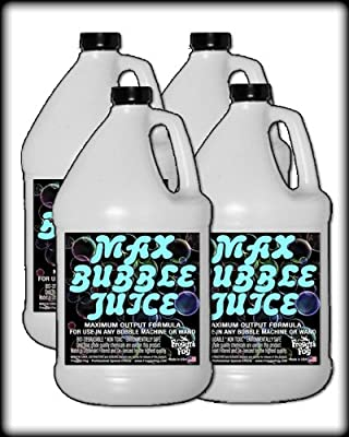 4 Gal - MAX Bubble Juice Fluid - 10x the Bubbles from Standard Machines from Froggys Fog