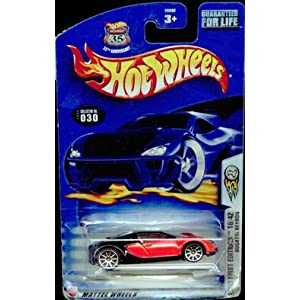 hot wheels 2003 030 first editions red black bugatti veyron 1 64 scale highway 35. Black Bedroom Furniture Sets. Home Design Ideas