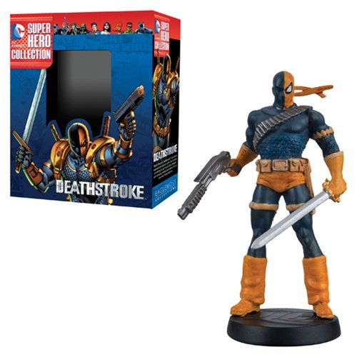 DC Superhero Deathstroke Best Of Collector Figure with Collector Magazine by Eaglemoss Publications