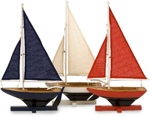 Imax 50907-3 Forza Decorative Sailing Fleet, Set Of 3 back-80369