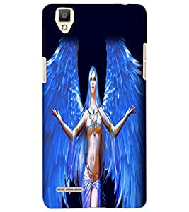 OPPO F1 ANGEL GIRL Back Cover by PRINTSWAG