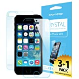 SPIGEN iPhone 5S Screen Protector [Crystal Clear][4-PACK]**JAPANESE BASE PET FILM**[LIFETIME WARRANTY] Premium Front Screen Protector + Back Protector for the NEW iPhone 5S and iPhone 5 - AT&T, Verizon, Sprint, T-Mobile, International - Crystal CR (SGP10352)