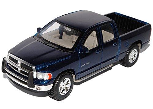 dodge-ram-quad-cab-blau-pick-up-2002-2009-1-27-1-24-maisto-modell-auto-mit-individiuellem-wunschkenn