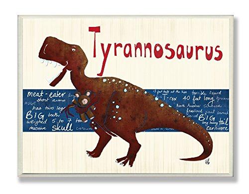 The Kids Room by Stupell Tyrrannosaurus Dinosaur Rectangle Wall Plaque