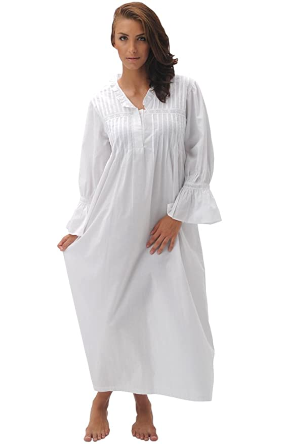 Alexander Del Rossa Women's Romeo and Juliet Bell Sleeve Victorian Nightgown