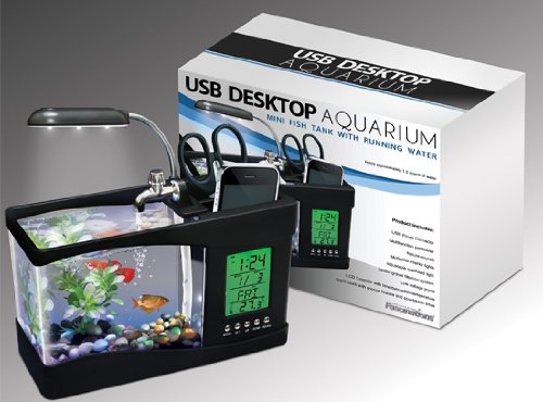 51wkv69Xe0L USB Aquarium and Alarm Clock