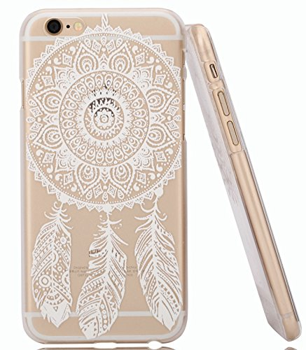 IPhone 6 Plus Case,iPhone 6S Plus Case Hundromi Iphone 6 6S Plus Plastic Henna Full Mandala Floral Dream Catcher Case Cover For iPhone 6 plus/iphone 6S plus