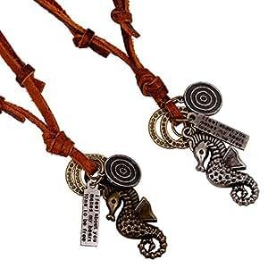 women cowhide jewelry colar de couro masculino Collares   Amazon.com