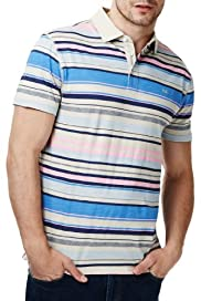 North Coast Pure Cotton Striped Polo Shirt [T28-7002N-S]