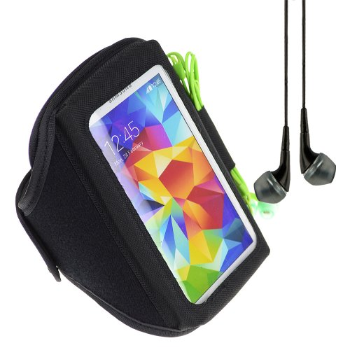 Sumaclife Sports Armband For Samsung Galaxy S5 S 5 Sv / S4 S 4 Siv / Galaxy S3 S 3 Sⅲ + Black Vangoddy Headphone With Mic (Black)