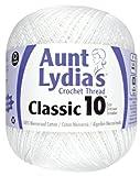 Aunt Lydia 151.0201 Value Crochet Cotton, White