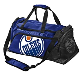 Forever Collectibles NHL Edmonton Oilers Medium Locker Room Duffle Bag