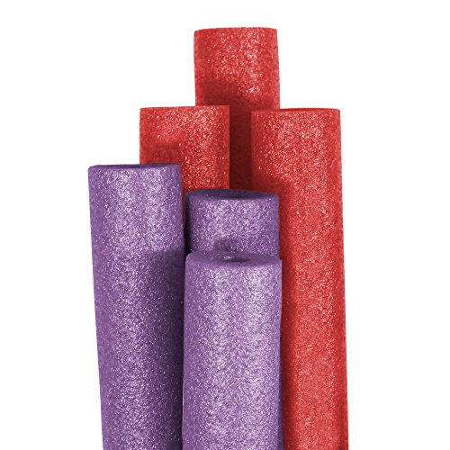 Robelle Big Boss Purple and Red Pool Noodles (6-Pack)