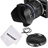 Neewer® Lens Hood Kit for SONY A6000 / NEX Series Cameras with 16-50mm Lens and Samsung NX300 with 20-50mm Lens - Tulip Flower Lens Hood + Inner Pinch Lens Cap + Lens Adapter 40.5-58mm