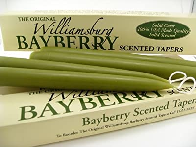 Best Cheap Deal for Williamsburg Bayberry Candles Tapers with Bayberry Candle Legend - Bayberry Scented from Buyacandle.com - Free 2 Day Shipping Available
