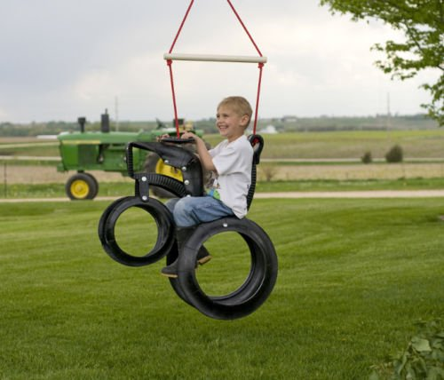 New Strong, Safe, And Easy Tractor Ride'N Tire Swing New Playground Set front-551624