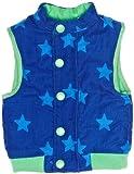 Toby Tiger - Chaleco con botones con cuello redondo para bebé, talla 1-2 años, color azul/verde