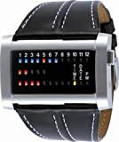 01 The One Ibiza Ride Black Strap Binary Watch with Red Blue and Yellow LED's