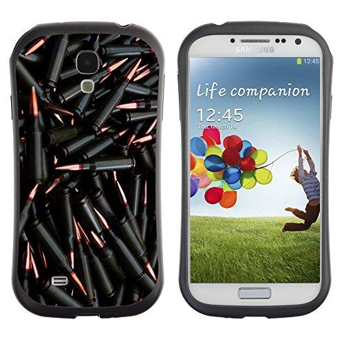 HYBRID Hülle Bumper Schutzhülle für Samsung Galaxy S4 / Black Bullets