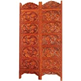 Hand Carved Wooden Partition Screen In Sheesham (Indian Rosewood) Jaali Leaf Design