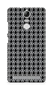 Amez designer printed 3d premium high quality back case cover for Lenovo K5 Note (Black n White Pattern10)