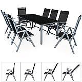 Alu-Sitzgruppe-81-Sitzgarnitur-Gartengarnitur-Tischplatte-aus-Glas-klappbare-und-neigbare-Sthle