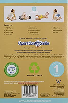 Charlie Banana 6 Reusable Diapers + 12 Inserts Set, Unisex