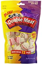 Dingo Mini Double Meat Bones, 12-Count