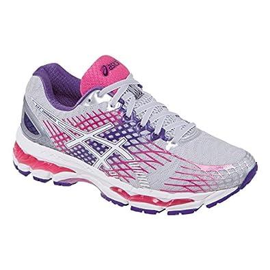 ASICS Women's Gel-Nimbus 17 Running Shoe,Lightning/White/Hot Pink,5 2A US