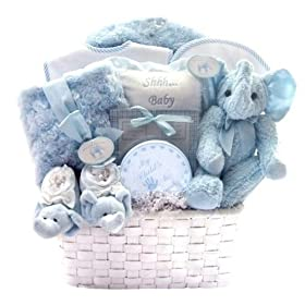 Top rated gifts for every occasion bountiful baby boy gift basket winter luxuries new baby boy gift basket with blue elephant coat matching blanket great shower or easter gift idea for newborns negle Images