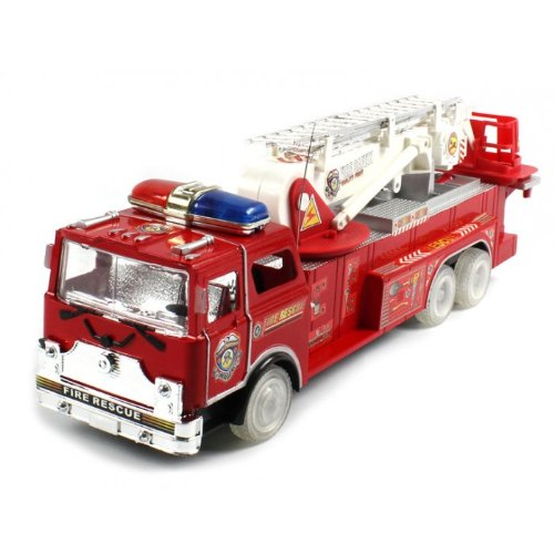 Electric Full Function Superior Rescue Zero Team Fire Rtr Rc Truck W/ Light Up Wheels Remote Control