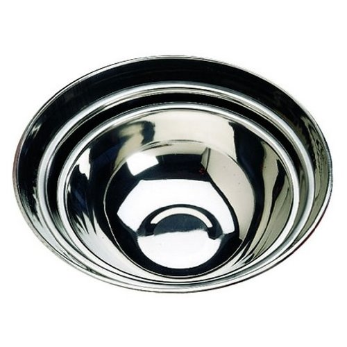 Tablecraft 824 Stainless Steel Standard Weight Mixing Bowl, Mirror Finish, 3-Quart