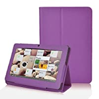 Wisedeal Slim Fit Folio Stand pu Leather Case Cover for 7 Inch Android Tablet(Q88) PC with free wisedeal keyrings (Purple) from Wisedeal
