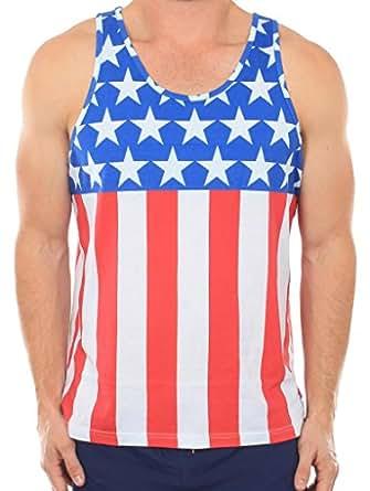 s patriotic american flag tank top small