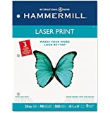 "Hammermill Laser Print Paper, 24lb, 8-1/2"" x 11"", 3 Hole, 98 Bright, 5000 Sheets/10 Ream Case (107681C)"