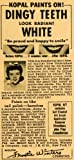 1949 Ad Teeth Whitener Kopal Kit Saf-Enamel Air Brush Applicator Frostie Winters - Original Print Ad