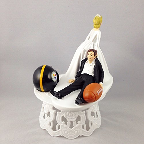 Funny Wedding Cake Topper Pittsburgh Steelers Football Themed Can Be Personalized With Your