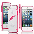 Apple iPhone 5 5s Ultra Thin Transparent Clear Hard TPU Case Cover Track & Field Wing Shoes (Hot Pink)