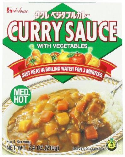 House Foods Curry Sauce with Vegetables, Medium Hot, 7.4-Ounce Boxes (Pack of 20)