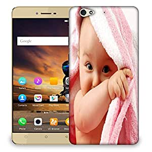 Snoogg Baby On Towel Designer Protective Back Case Cover For GIONEE S6