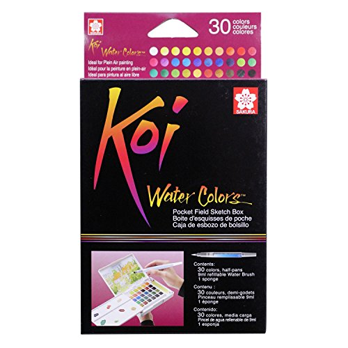 Sakura XNCW-30N Koi Field 30 Assorted Watercolors with