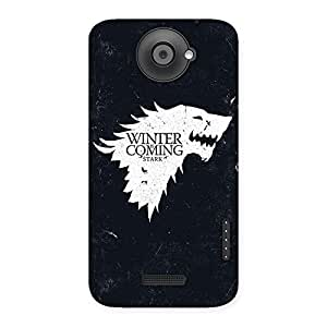 Gorgeous Games Of Winter Grey Back Case Cover for HTC One X
